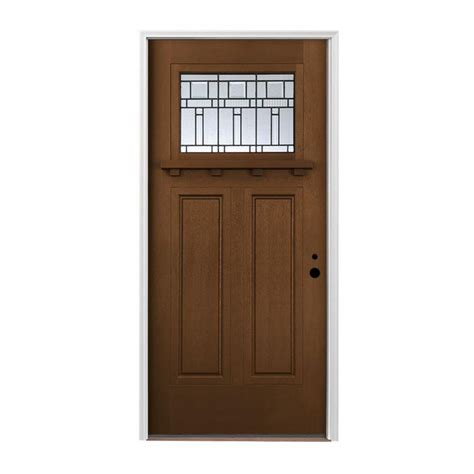 Shop Pella Left Hand Inswing Provincial Stained Fiberglass Pella Exterior Doors