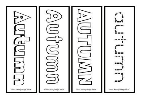 printable autumn bookmarks to color autumn colouring bookmarks