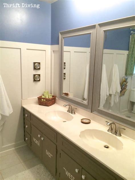 kids bathroom makeover before after kids bathroom makeover reveal thrift