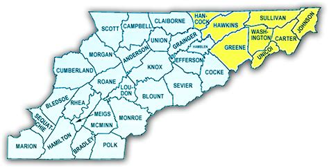 east tennessee map map of northeast tennessee afputra