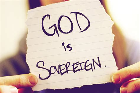 only a sovereign gracious god what does quot god is sovereign quot mean