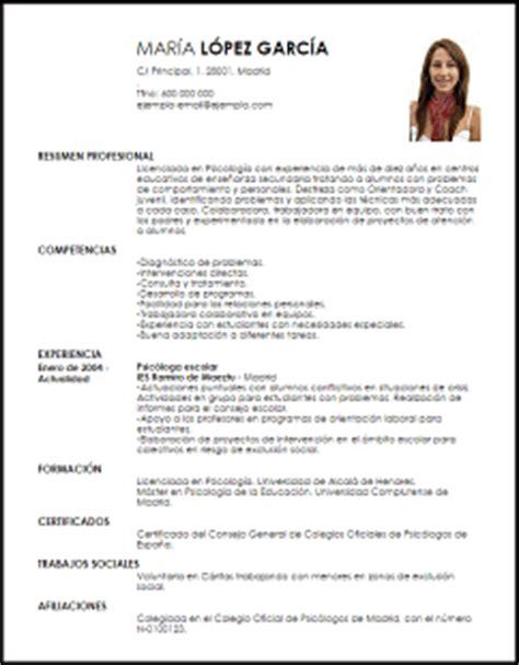 Plantillas De Curriculum Vitae Academico Modelo Curriculum Vitae Psic 243 Loga Escolar Livecareer