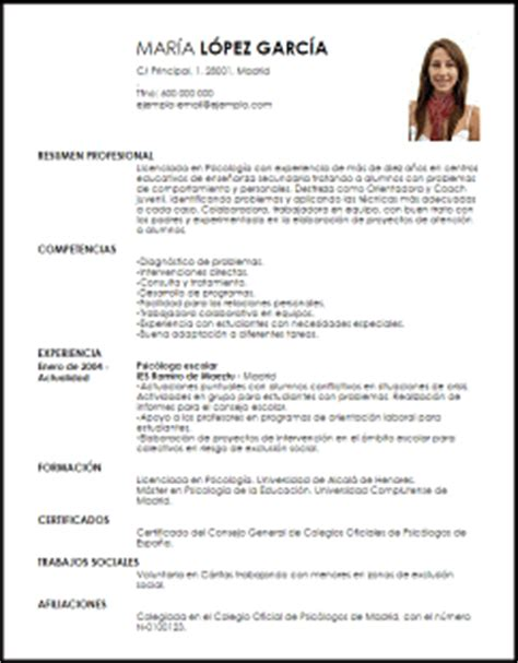 Modelo Curriculum Vitae Psicologo Clinico Modelo Curriculum Vitae Psic 243 Loga Escolar Livecareer