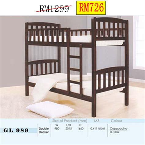 Rack Venny 2 Tingkat bed katil ideal home furniture