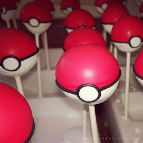 le shoppe pokeball cake pops cookies for a