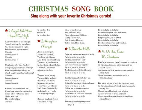 printable version christmas carol printable christmas caroling songbook christmas carol