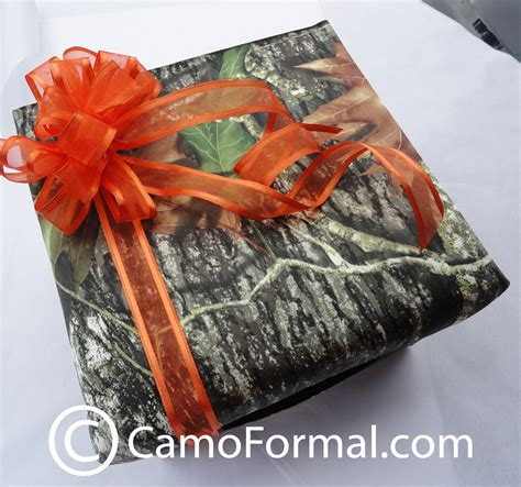 Mossy Oak Gift Card - camo covered card box camouflage prom wedding homecoming formals