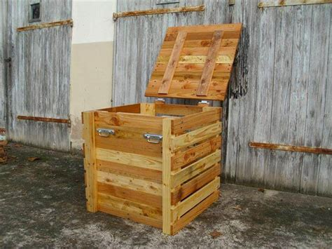 Wooden Slats For Bed Pallet Storage Chest Keepsake Box