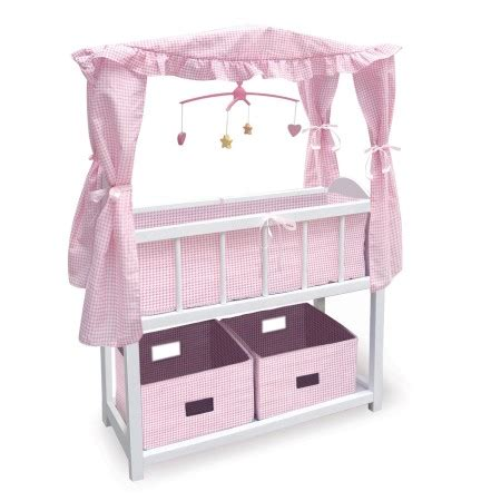 doll crib with bedding baskets mobile for 18 quot dolls