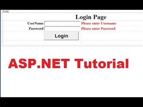 creating asp net login page beginner s tutorial for aspnet 4 5 29 login control