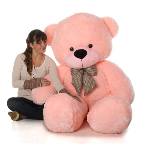 Boneka Teddy Jumbo Big Size 1 6ft size pink teddy cuddles