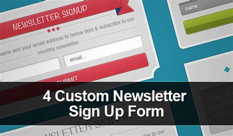 newsletter signup form template free 4 custom newsletter signup form psd templates titanui
