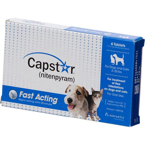 flea and tick pill capstar flea tablets for dogs and cats 2 25lbs petco