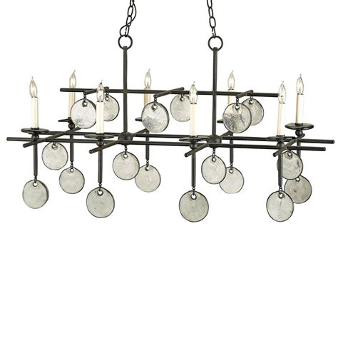 Recycled Glass Chandeliers Semana Iron Recycled Glass Disc 8 Light Island Chandelier Kathy Kuo Home
