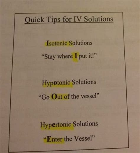 tips and solution quick tips for iv solutions nursing pinterest
