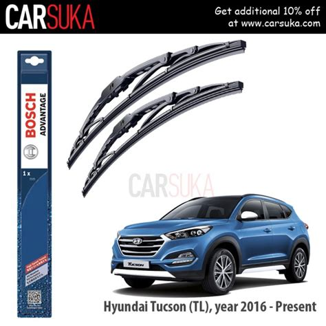 Wiper Kia Carens Bosch Advantage Size 24 16 bosch advantage wiper blade set for hyundai tucson 2016