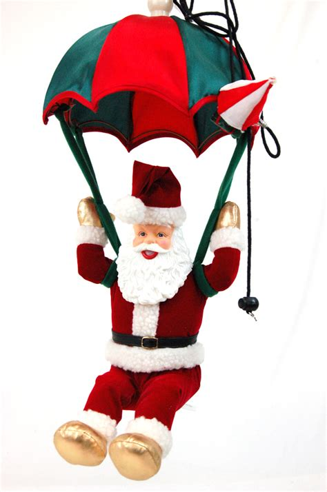 christmas parachuting plush singing santa clause