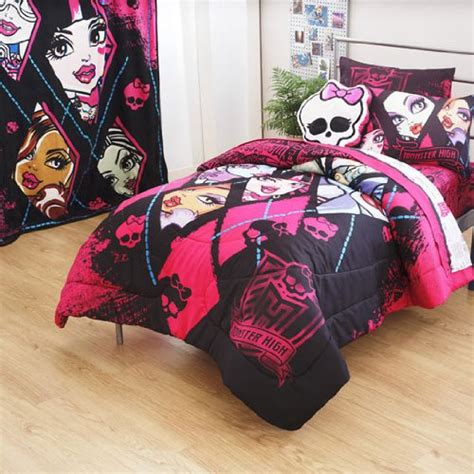 monster high bedding and curtains new monster high dolls ghouls back 3pc twin bed sheets set