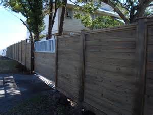 6x6 Trellis Horizontal Treated Pine Fence Stained With Exposed 6x6