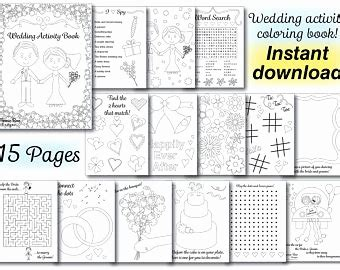 Wedding Book Concept by Wedding Coloring Book New Free Printable Wedding Activity