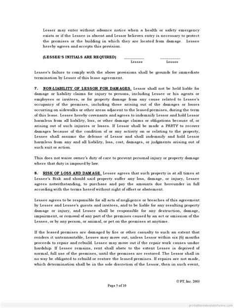 offset agreement template offset agreement template multi state lease sle forms
