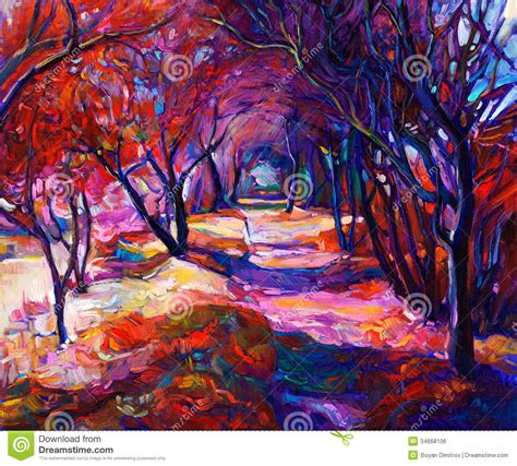 free painting path in the forest stock illustration illustration of