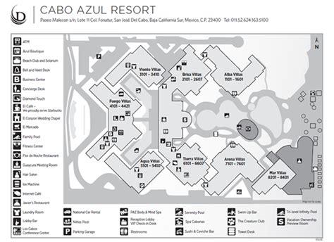 azul resort map los cabos resort cabo azul resort