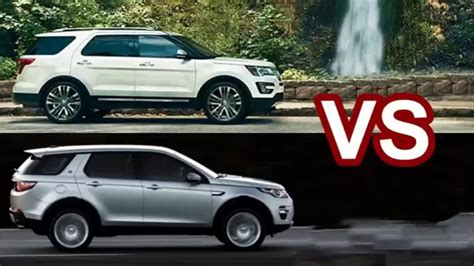 land rover ford range rover evoque vs ford explorer sport