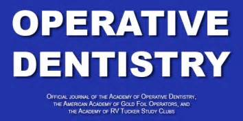 Table Title Html Operative Dentistry Home Page