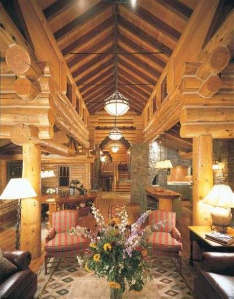 log cabin home decorating ideas taking logs to new heights cabin decor idea today s log