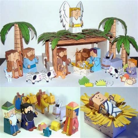 printable paper nativity scene easy papercraft nativity scene
