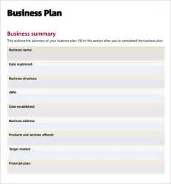 business plan template gov business plan templates 6 free documents in