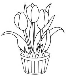 tulips flowers coloring pages tulips crafts spring print color craft