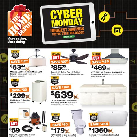 home depot weekly flyer cyber monday nov 30 30