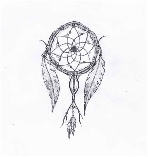 drawn dreamcatcher indian pencil and in color drawn