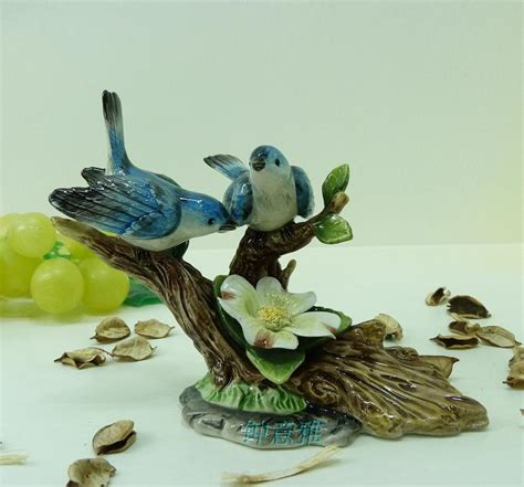animal figurines home decor animal figurines home decor blue ceramic flower bird trees