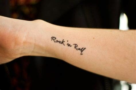 rock and roll tattoo simple rock roll and