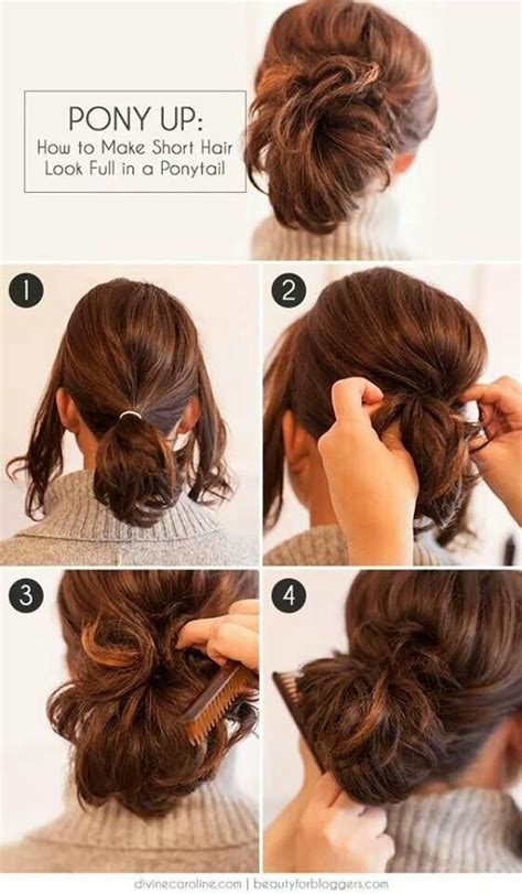 hairstyles for long straight hair tied up 25 best ideas about short hair ponytail on pinterest