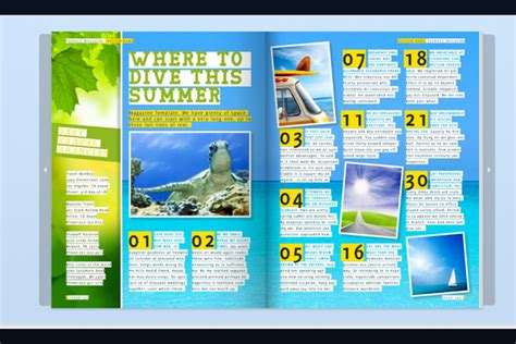 magazine layout in indesign teenage magazine indesign template magazines style and