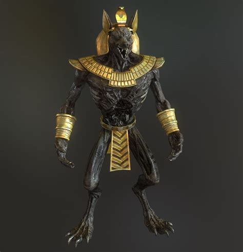 Anubis model 3D Model Game ready .obj .ma .mb .tga
