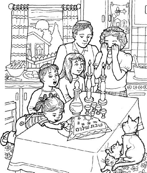 family shabbat coloring pages coloring pages