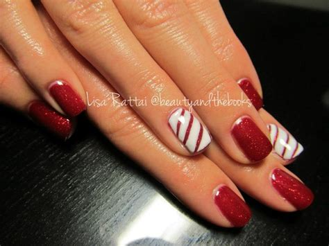 yeg christmas spots shellac with an accent nail done in a adorable nails nail artist