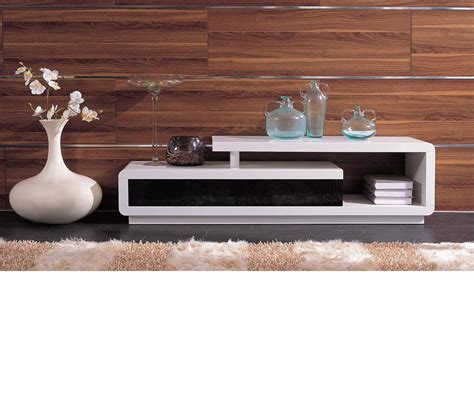 DreamFurniture.com   D3033   Modern White and Black TV Unit