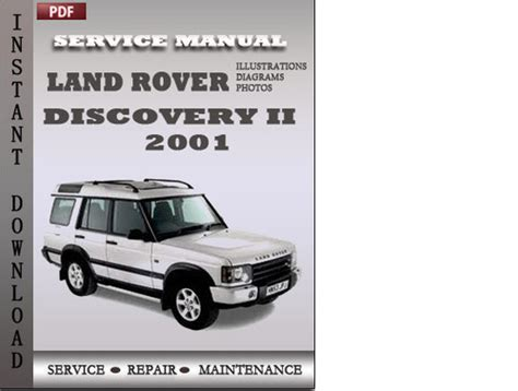 land rover discovery 2 2001 factory service manual download downl