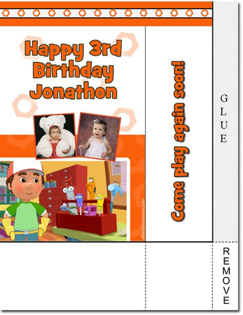 Get 20 All You Can Bag At Delias by Handy Manny Birthday Invitations Wrappers Thank