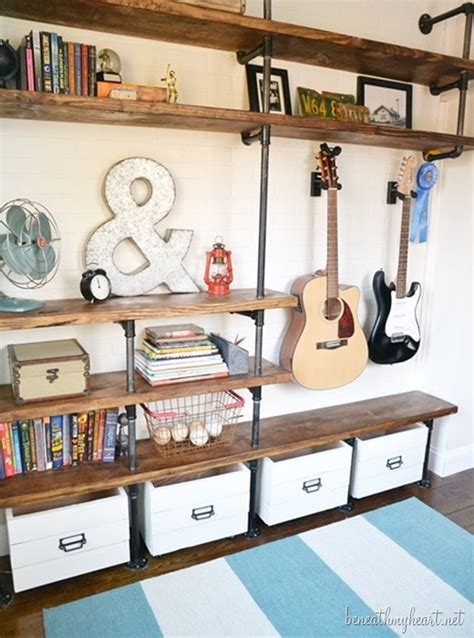 bedroom clutter solutions how to build industrial shelves industrial shelves