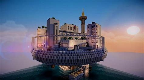 Terrapolis   The floating futuristic build Minecraft Project
