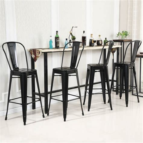 30 Inch Bar Stools Set Of 4 by 4pc Set Industrial Vintage Style Bar Height Stool