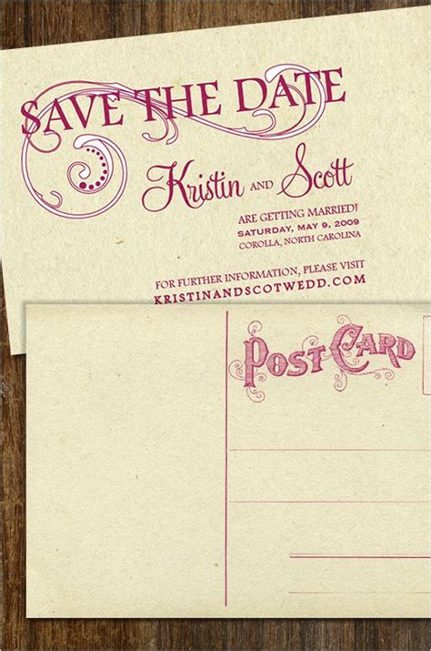 free vintage save the date templates vintage postcard save the date template fancy free