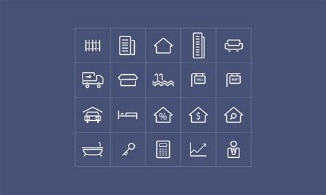 Real estate icons   DesignHooks